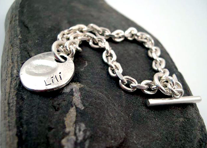 Lili Silver Fingerprint jewellery